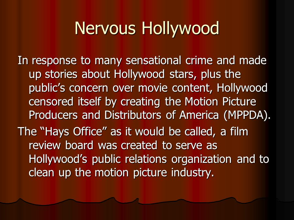 Nervous Hollywood