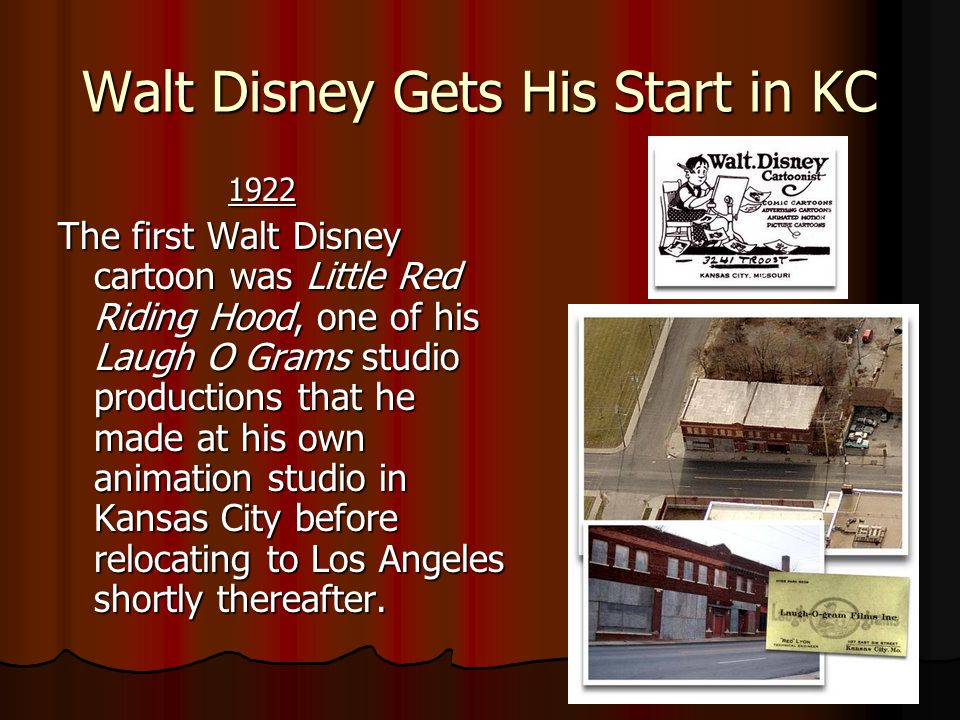 Walt Disney Gets His Start in KC