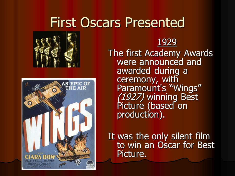 First Oscars Presented