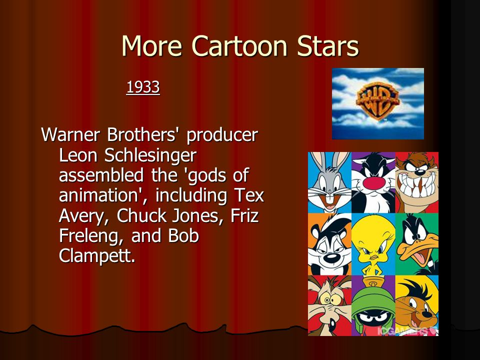 More Cartoon Stars 1933.