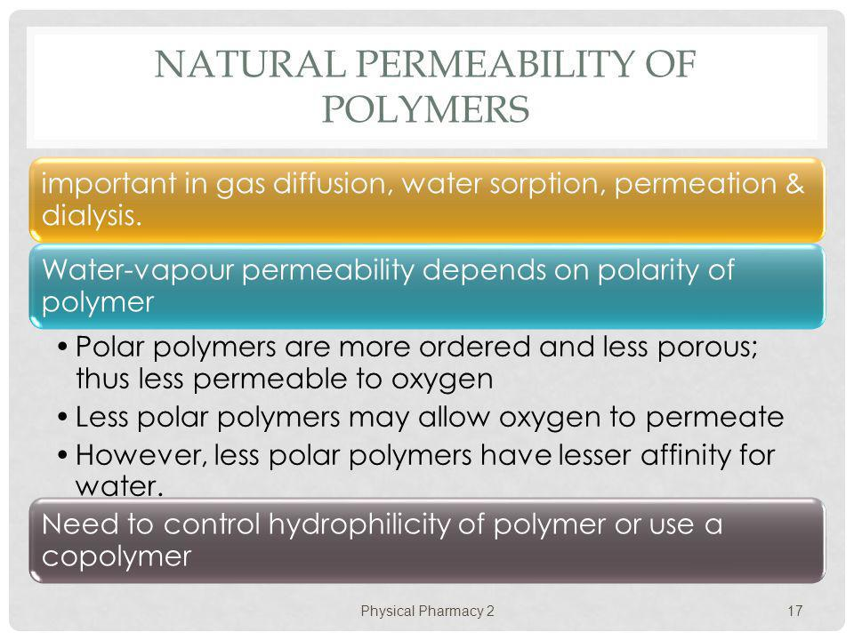 Natural Permeability of Polymers