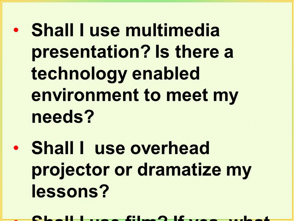 Shall I use multimedia presentation