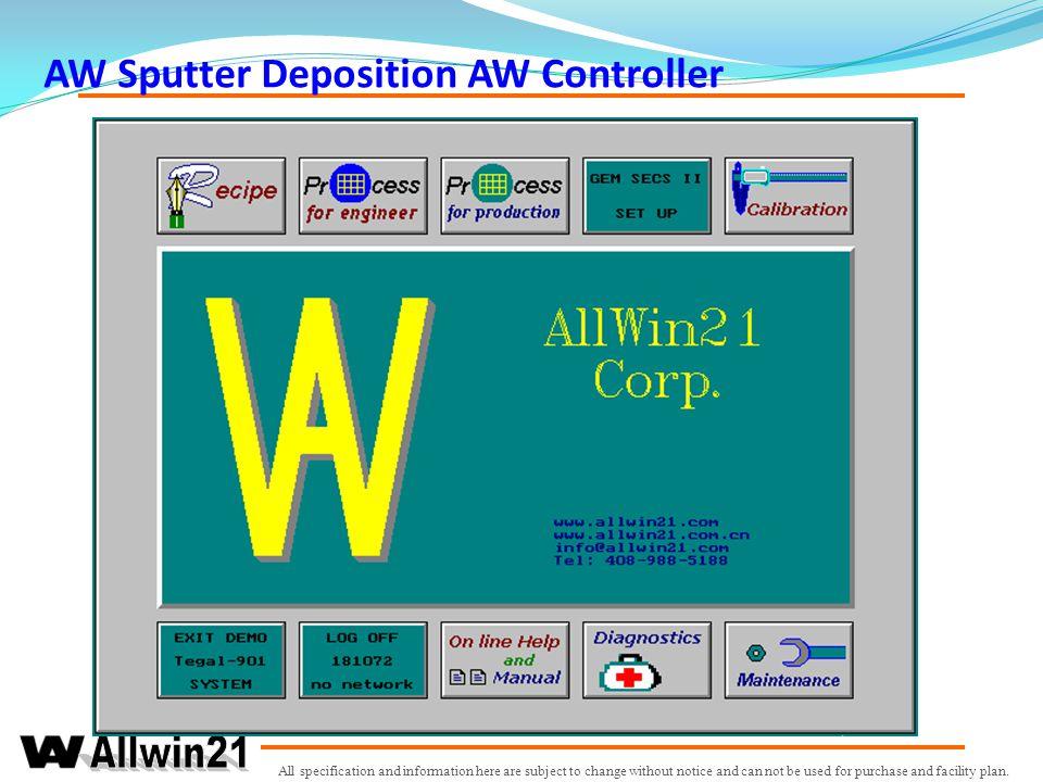 AW Sputter Deposition AW Controller