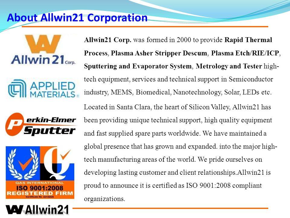 About Allwin21 Corporation