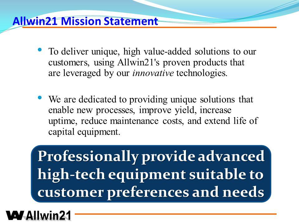 Allwin21 Mission Statement