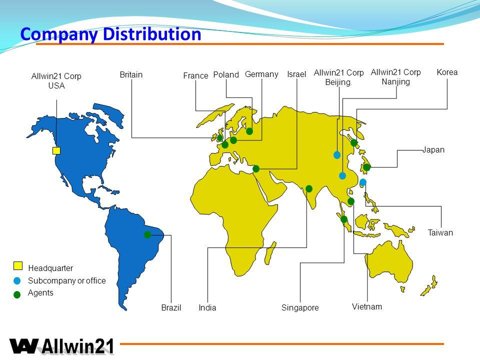 Company Distribution Allwin21 Corp USA Korea Britain France Poland