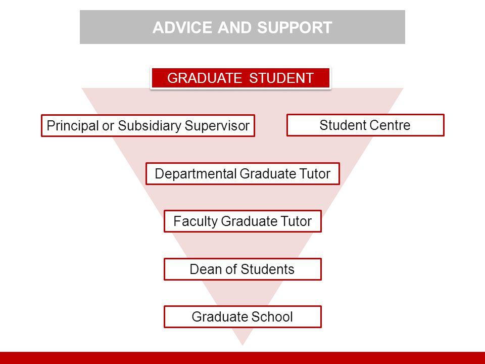 ADVICE AND SUPPORT GRADUATE STUDENT Principal or Subsidiary Supervisor