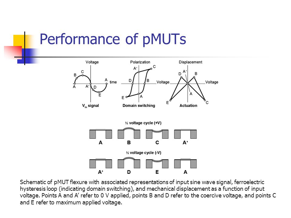 Performance of pMUTs
