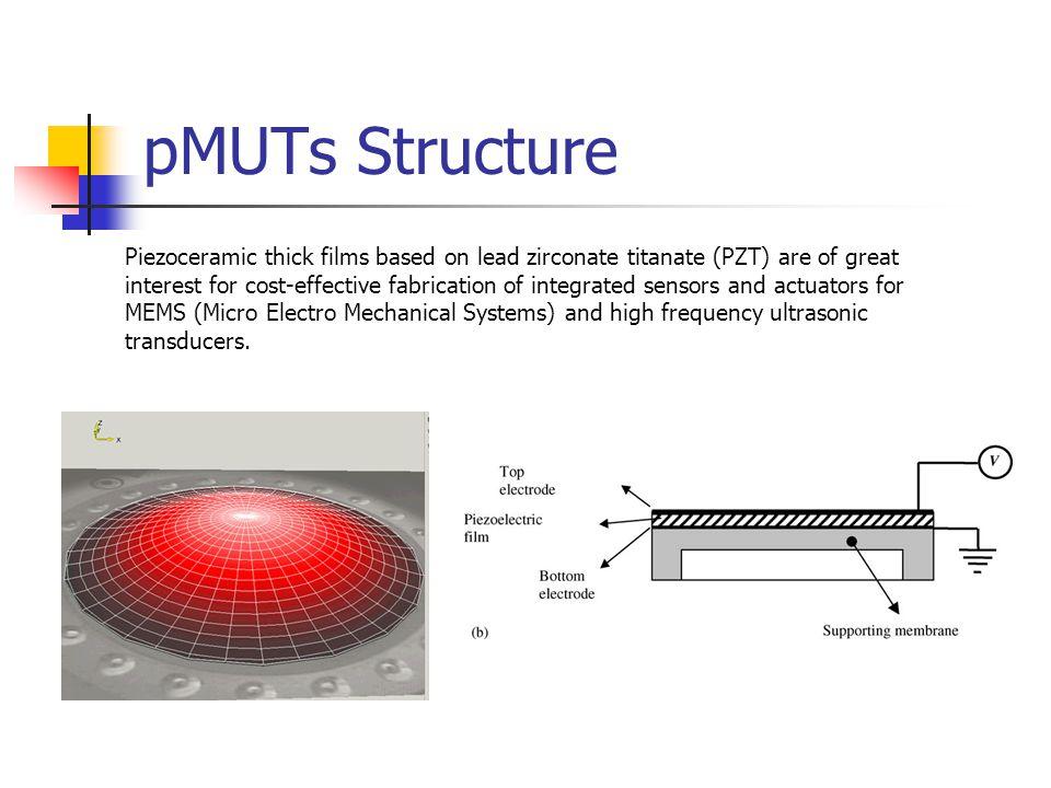 Piezoelectric Micromachined Ultrasound Transducers Pmuts