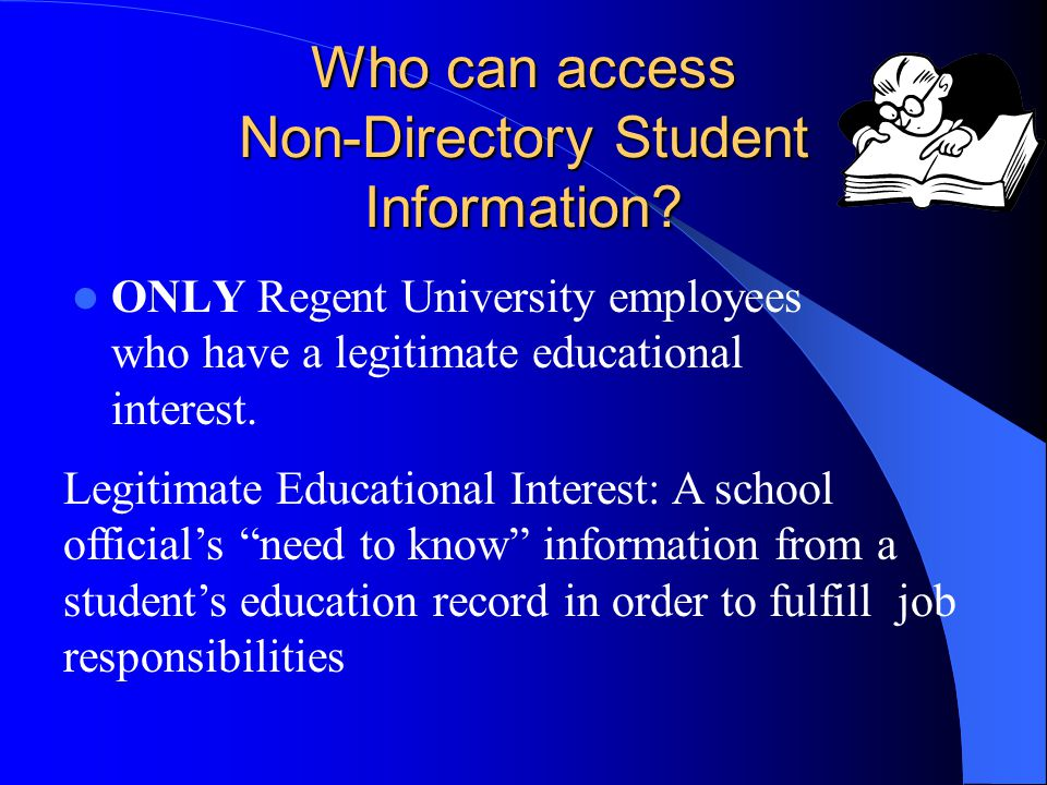 Who can access Non-Directory Student Information