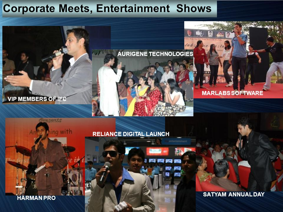 Corporate Meets, Entertainment Shows