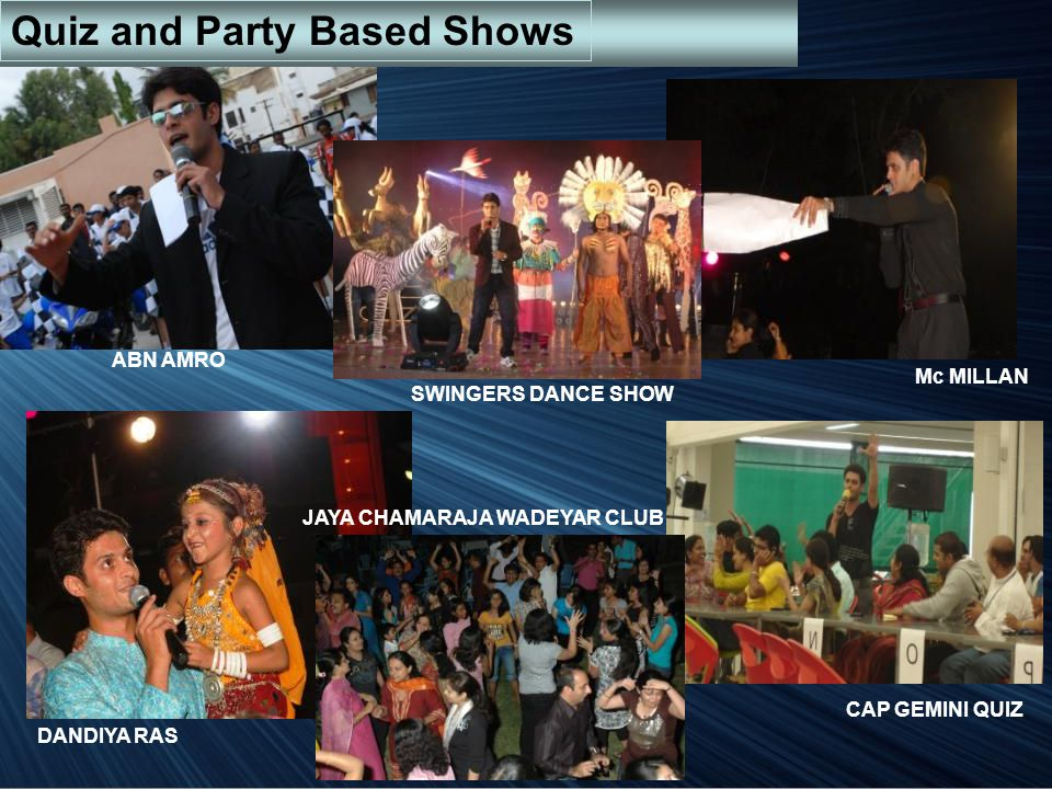 Quiz and Party Based Shows