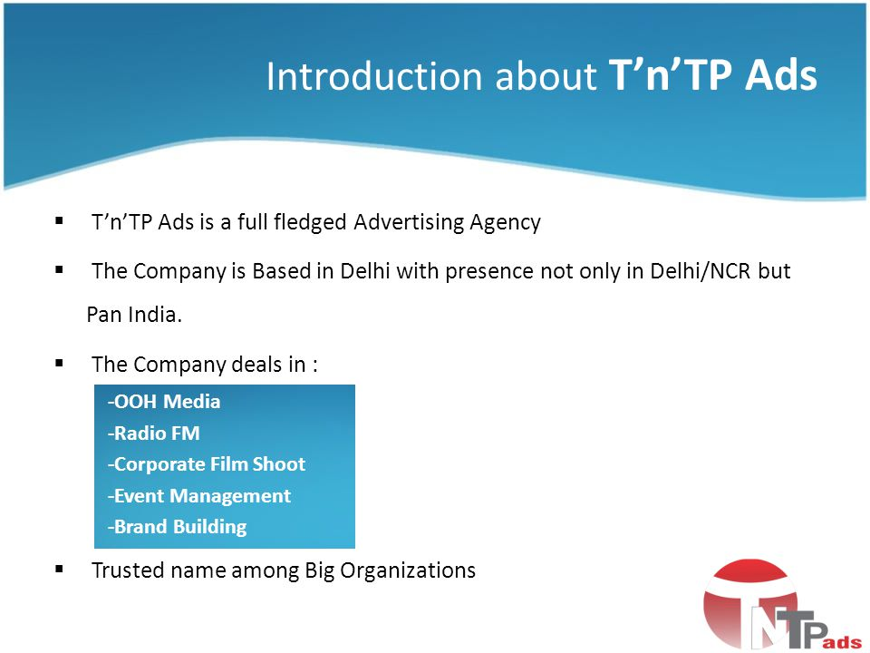 Introduction about T'n'TP Ads
