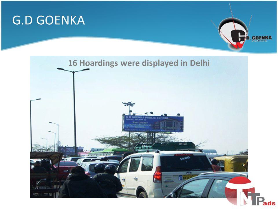 16 Hoardings were displayed in Delhi