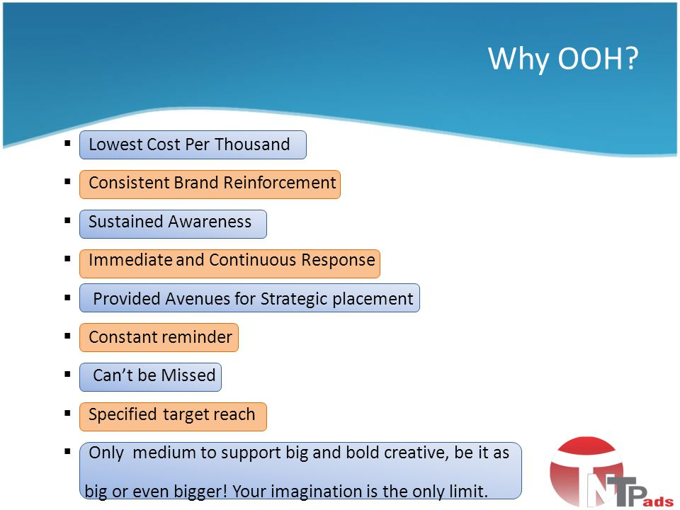 Why OOH Lowest Cost Per Thousand Consistent Brand Reinforcement
