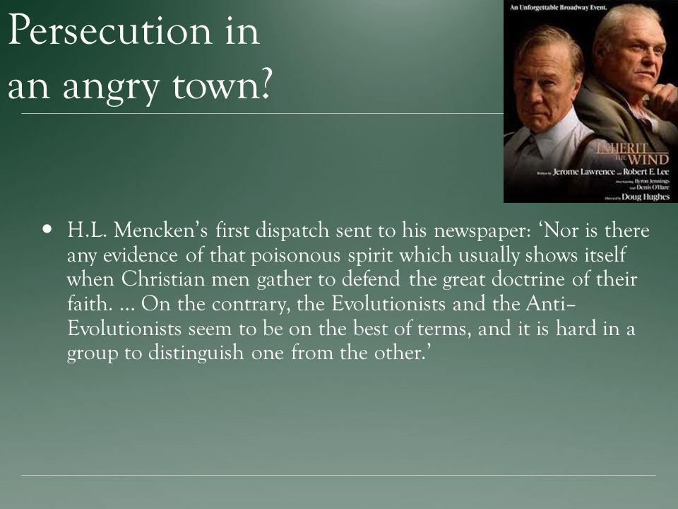 Persecution in an angry town