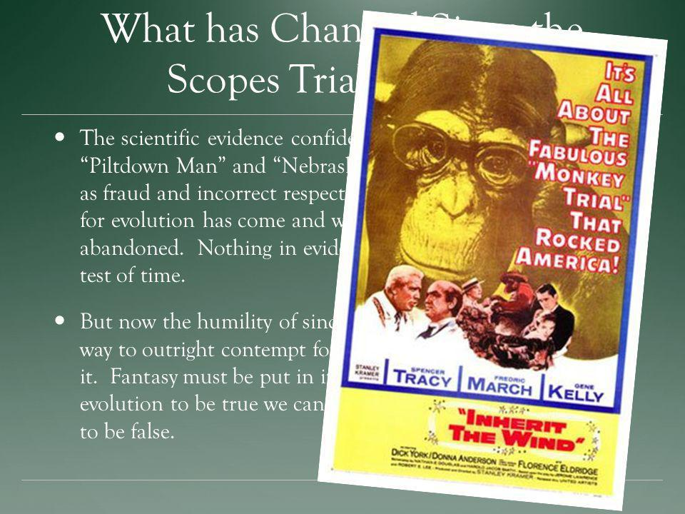What has Changed Since the Scopes Trial in 1925