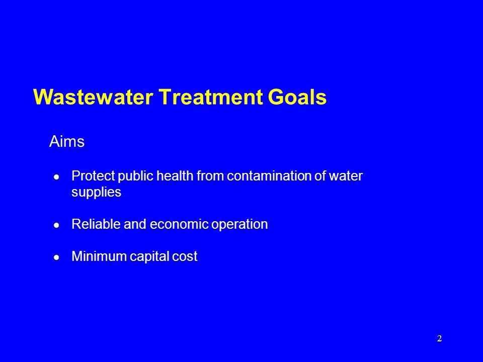 Wastewater Treatment Goals