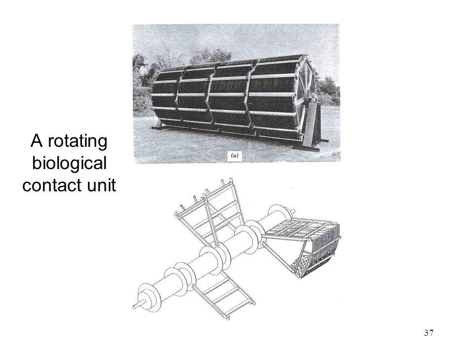 A rotating biological contact unit