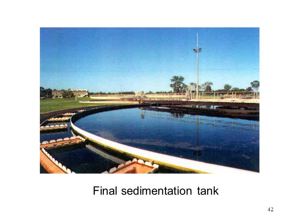 Final sedimentation tank