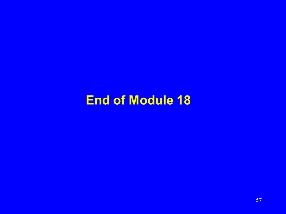 End of Module 18