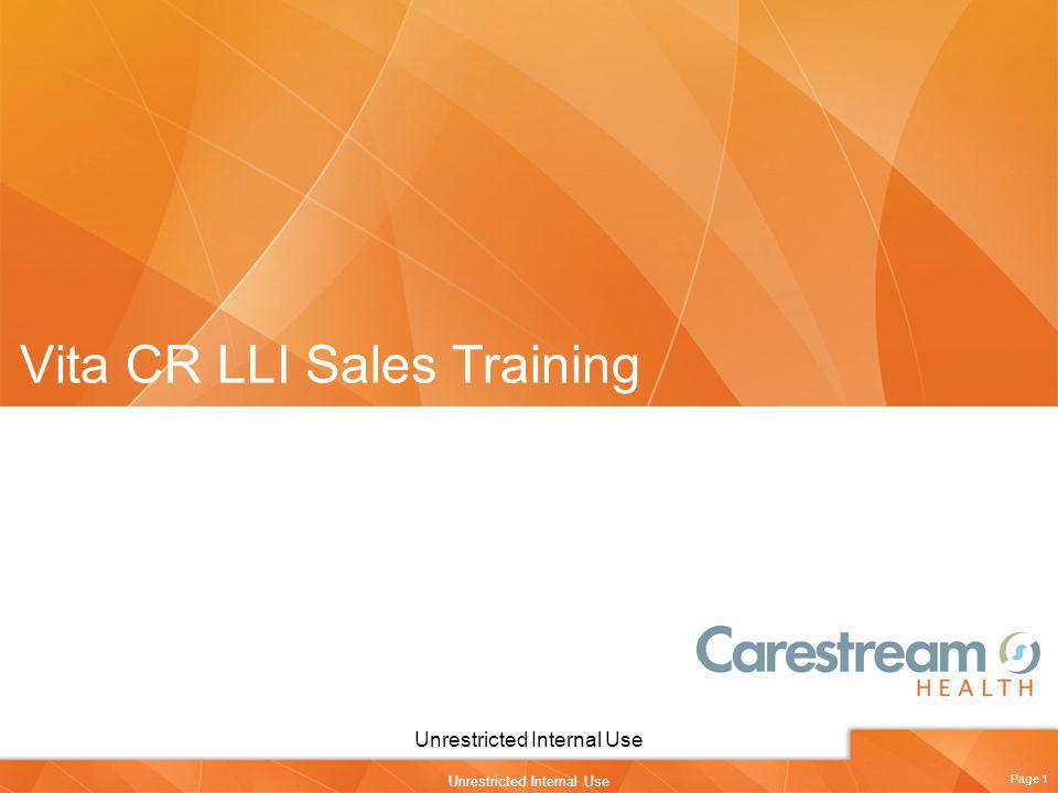 Vita CR LLI Sales Training