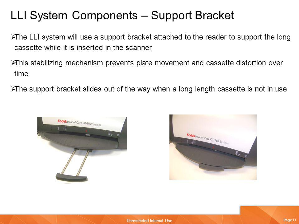 LLI System Components – Support Bracket