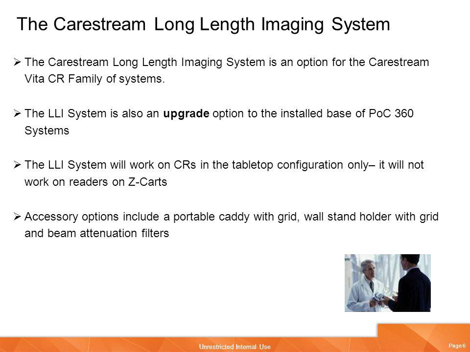 The Carestream Long Length Imaging System