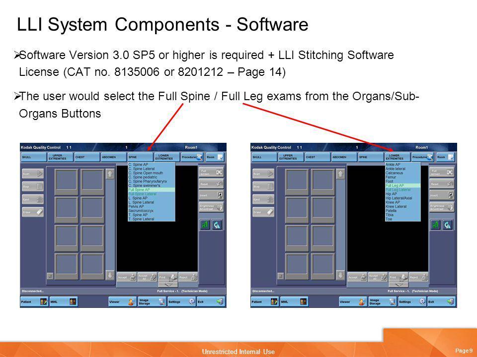 LLI System Components - Software
