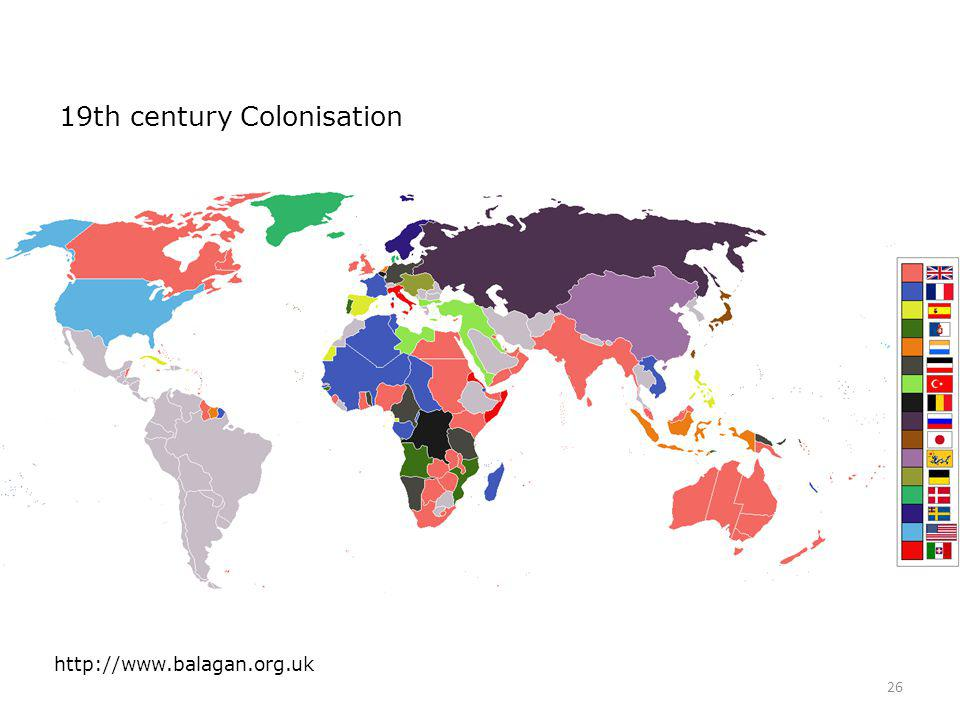 19th century Colonisation