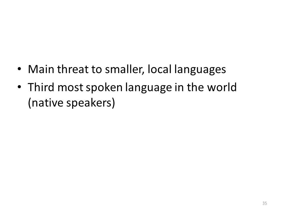 Main threat to smaller, local languages