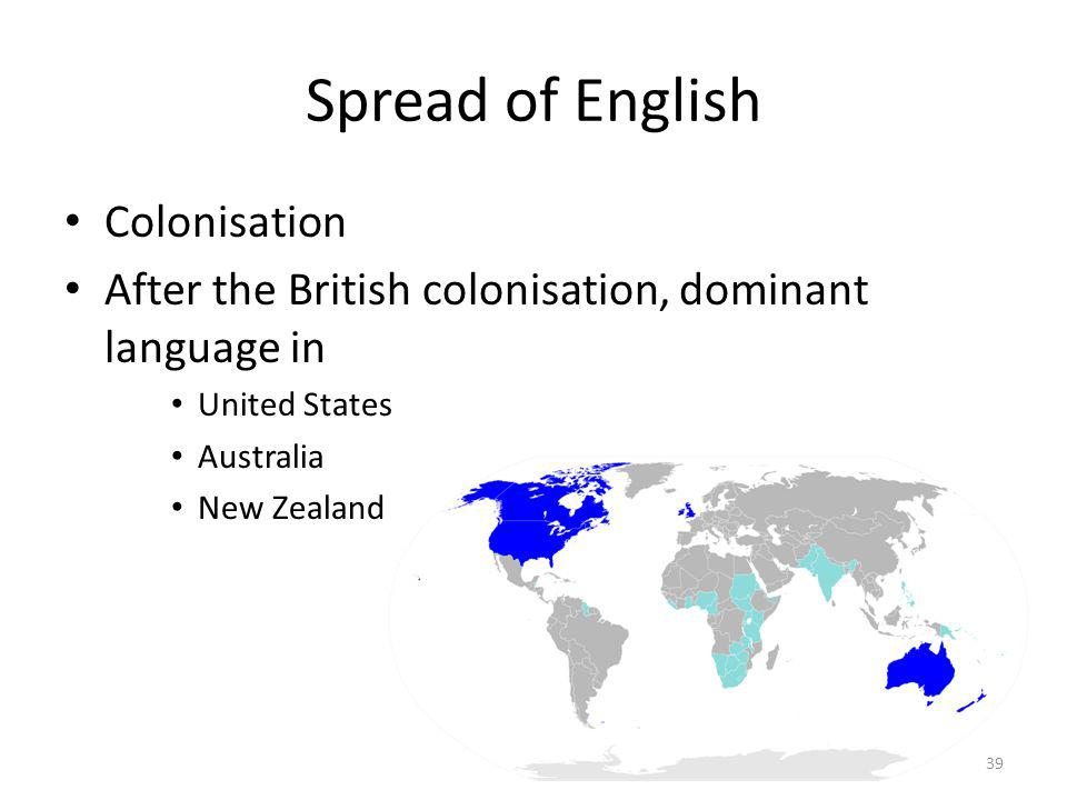 Spread of English Colonisation