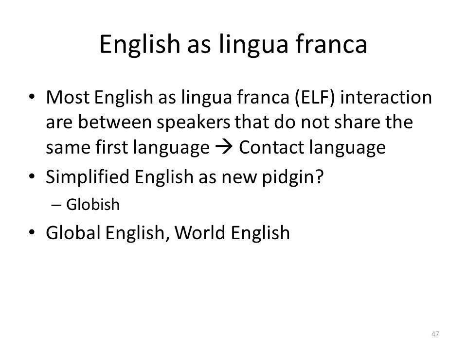 English as lingua franca