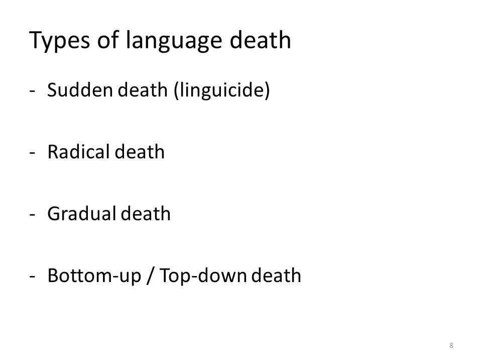 Types of language death