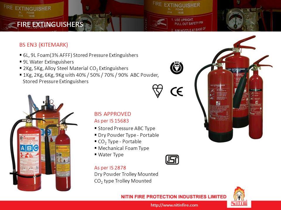 FIRE EXTINGUISHERS BS EN3 (KITEMARK) BIS APPROVED