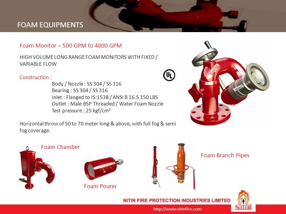 FOAM EQUIPMENTS Foam Monitor – 500 GPM to 4000 GPM Foam Chamber