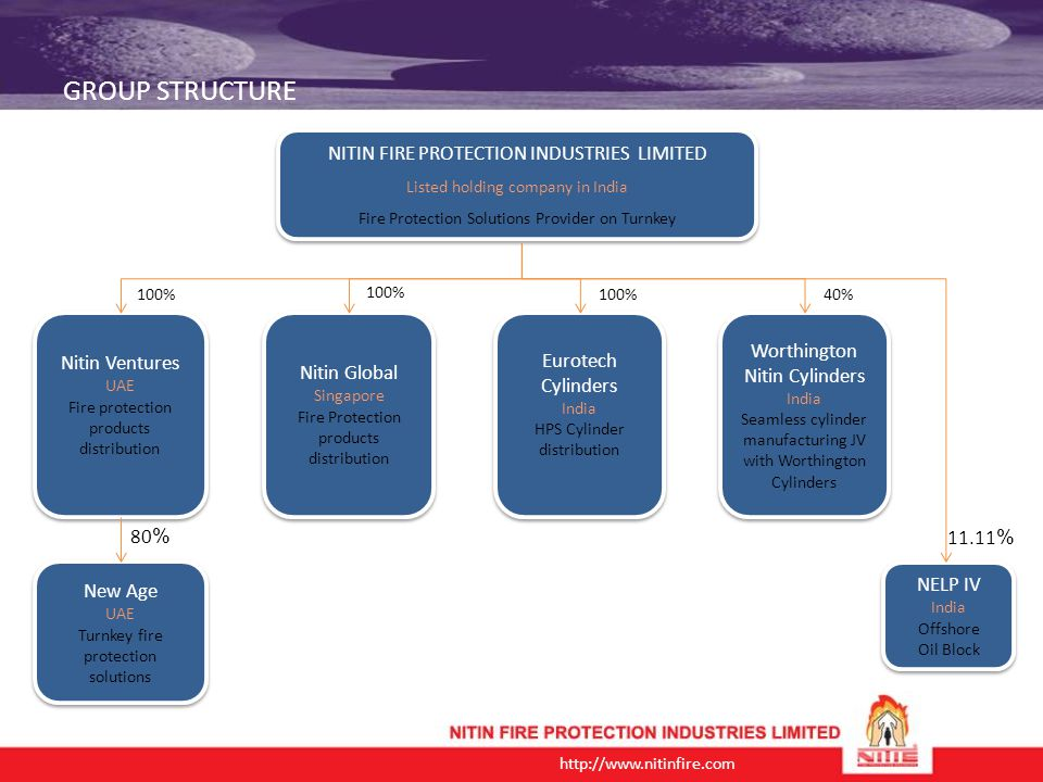 GROUP STRUCTURE NITIN FIRE PROTECTION INDUSTRIES LIMITED