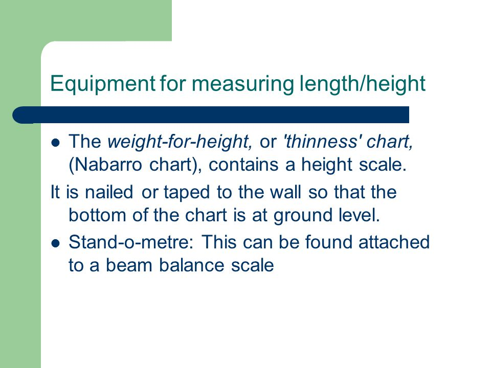 Equipment for measuring length/height