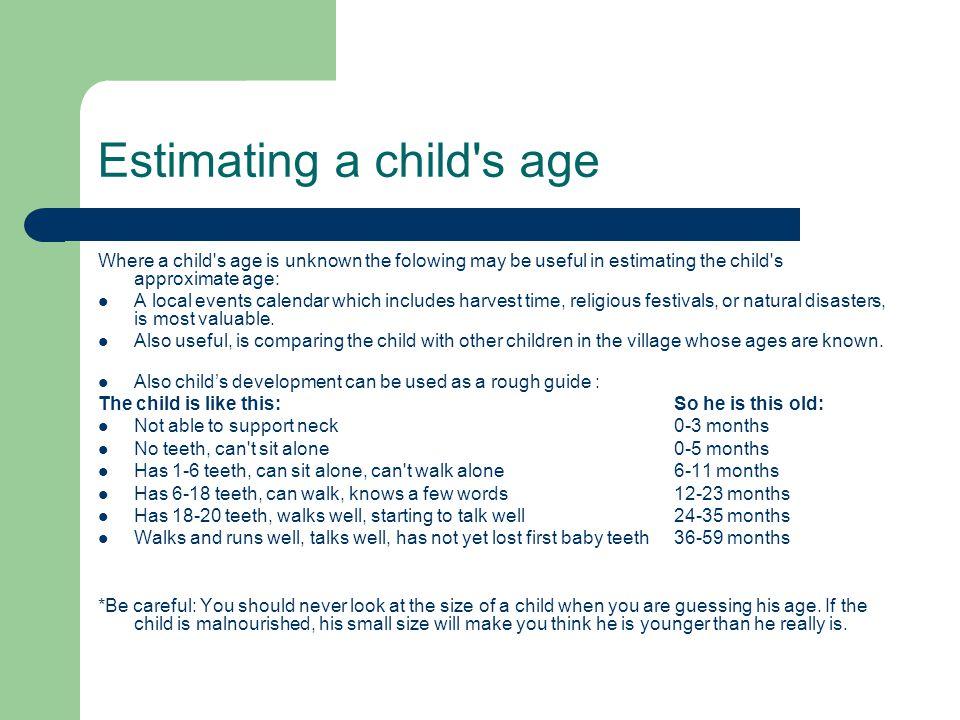 Estimating a child s age