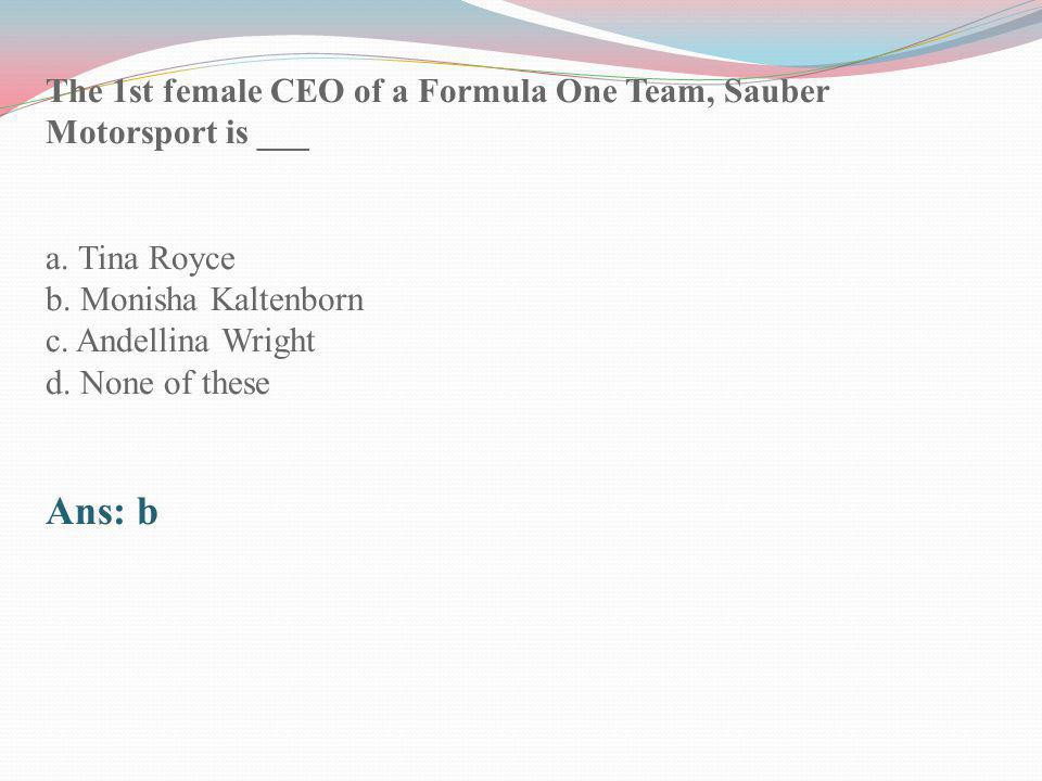 The 1st female CEO of a Formula One Team, Sauber Motorsport is ___