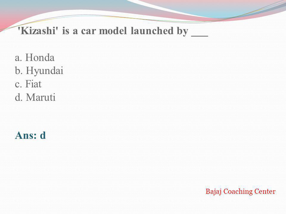 Kizashi is a car model launched by ___