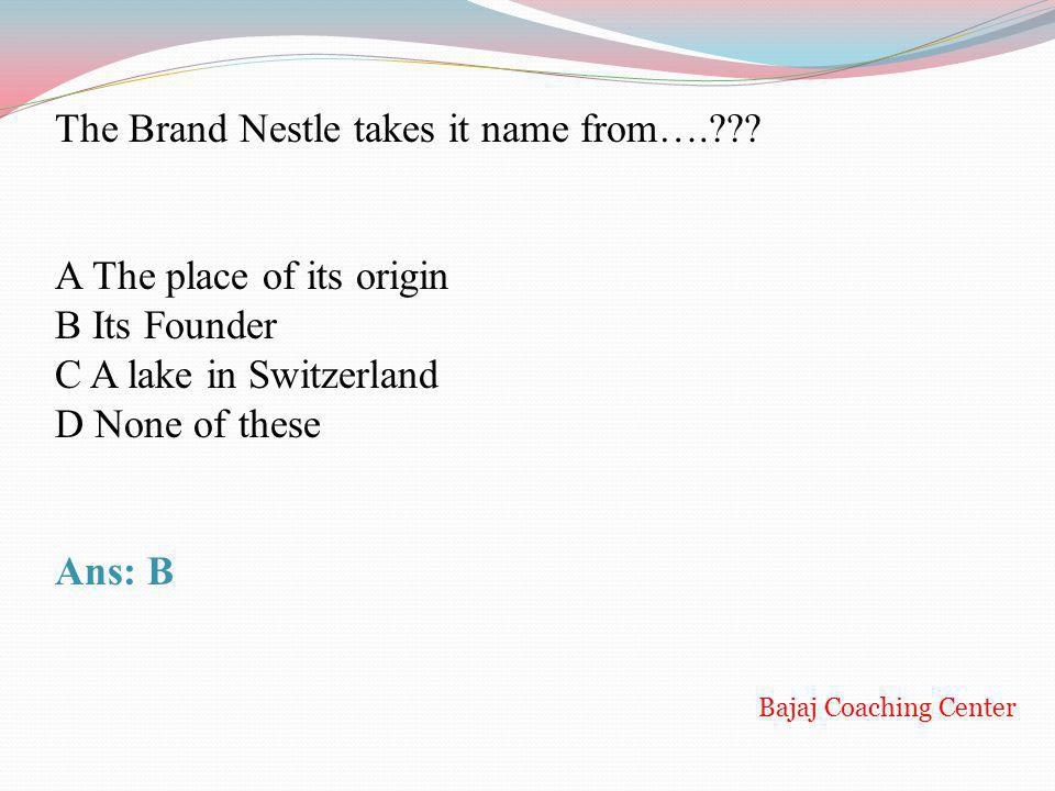 The Brand Nestle takes it name from….