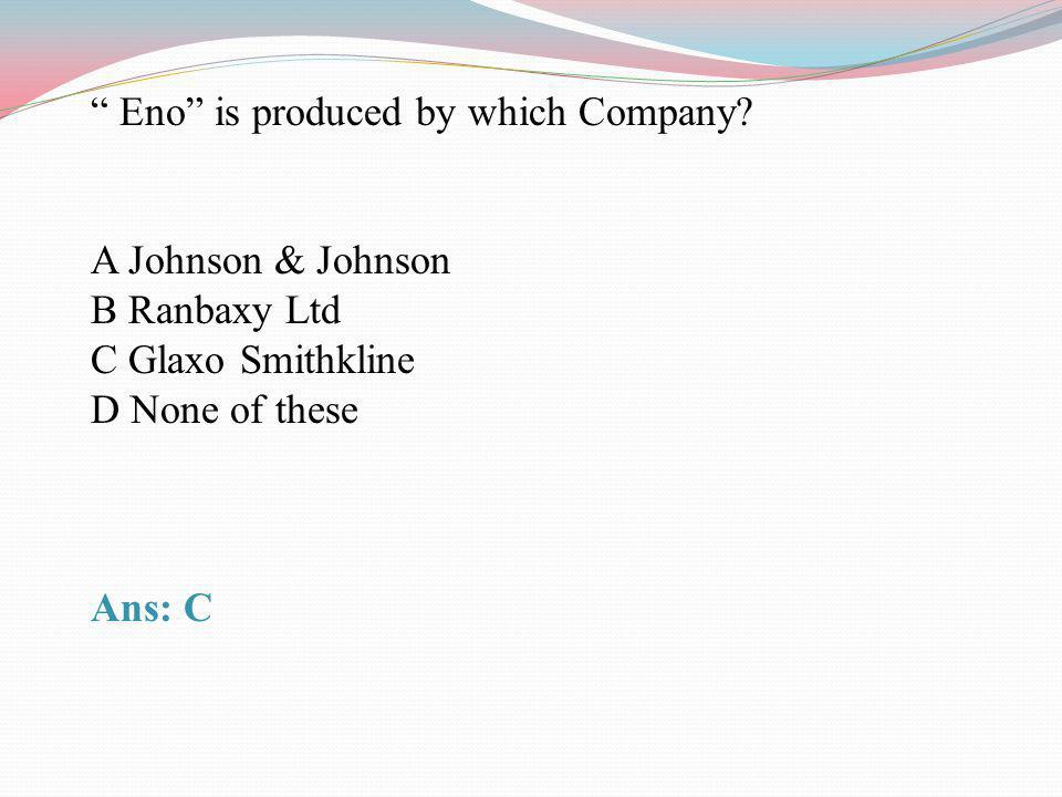 Eno is produced by which Company
