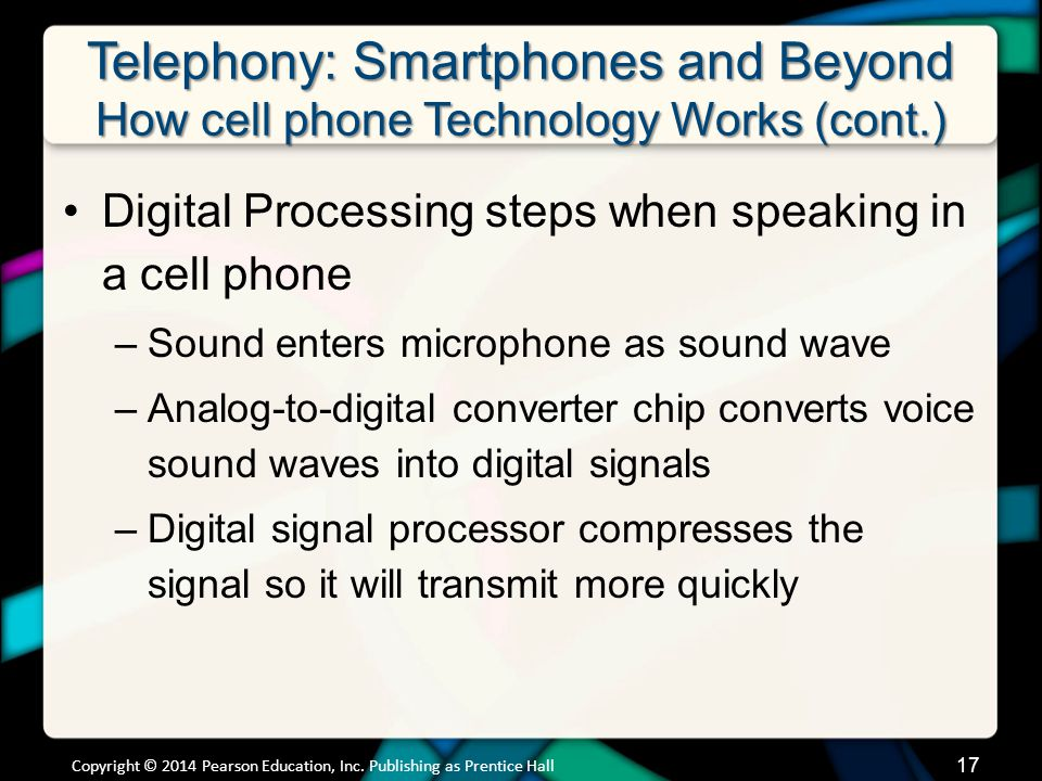 Telephony: Smartphones and Beyond How cell phone Technology Works (cont.)