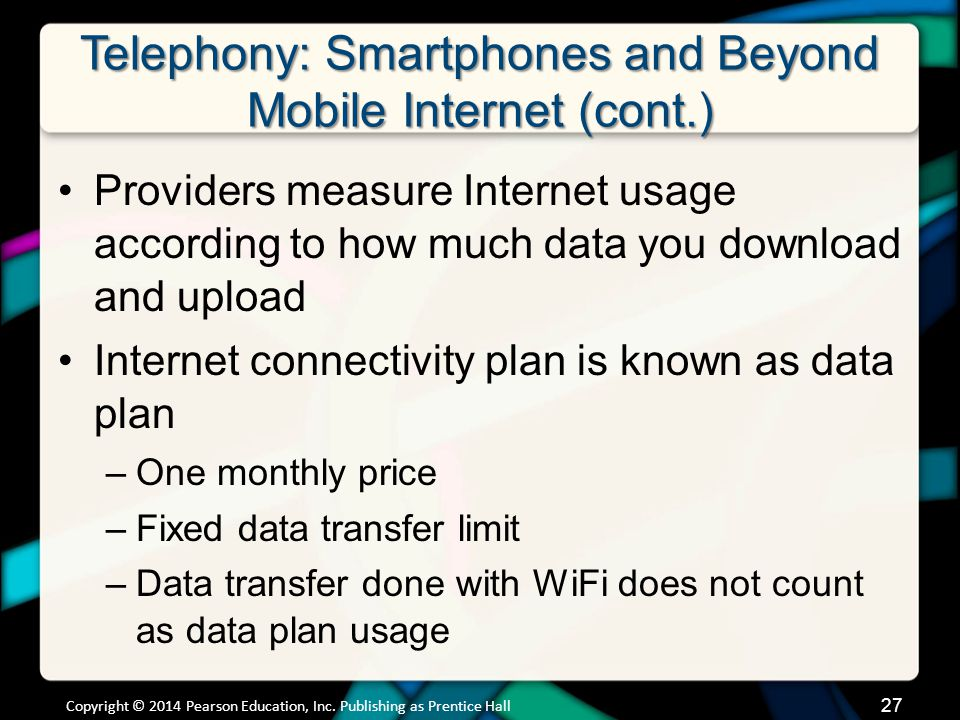 Telephony: Smartphones and Beyond Mobile Internet (cont.)