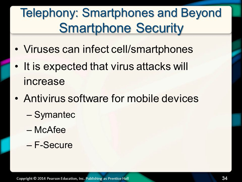 Telephony: Smartphones and Beyond Smartphone Security (cont.)