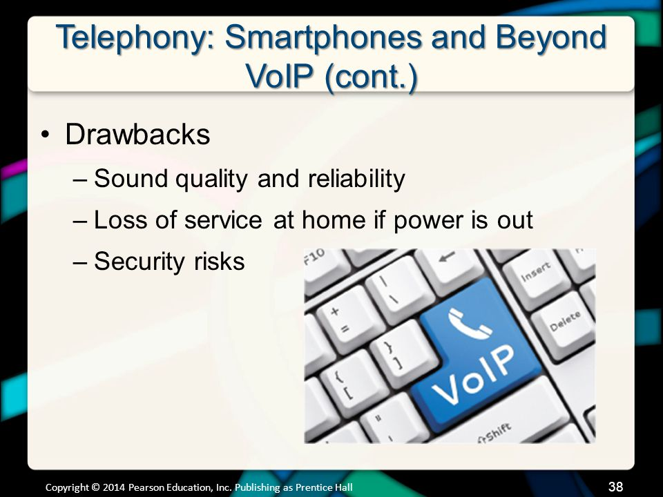 Telephony: Smartphones and Beyond VoIP (cont.)