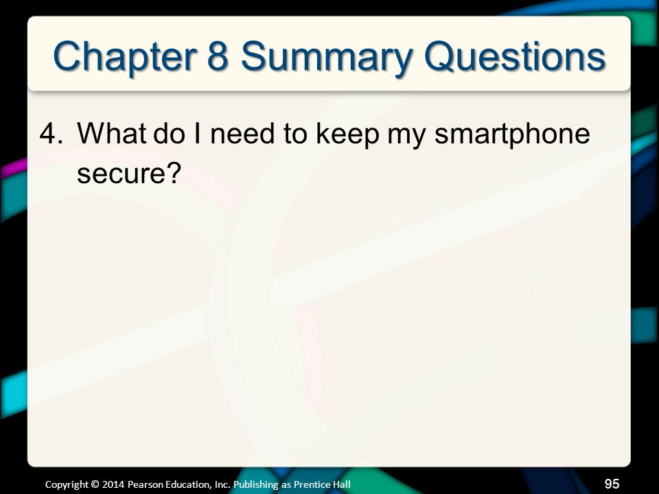 Chapter 8 Summary Questions