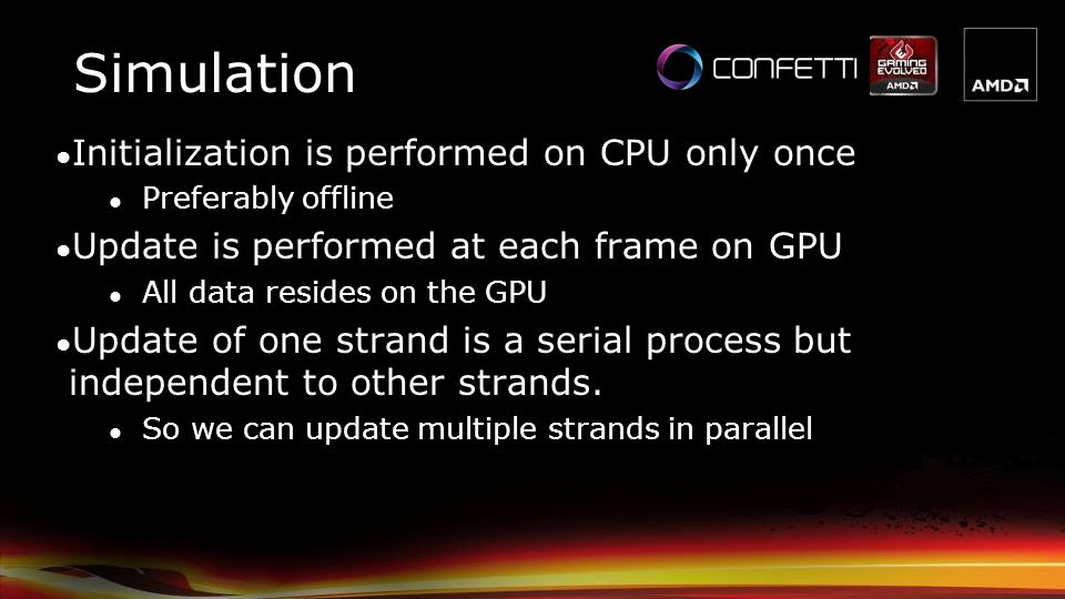Simulation Initialization is performed on CPU only once