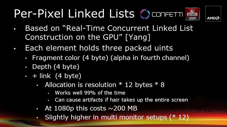 Per-Pixel Linked Lists